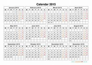 calendar 2015 uk free yearly calendar templates for uk With 2015 yearly calendar template in landscape format