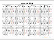 Calendar 2015 UK Free Yearly Calendar Templates for UK