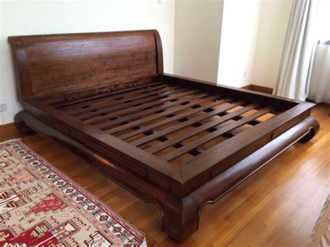 Wood Bed Frames For King Size Beds by Wooden King Size Bed Frame Diy Or Invest Blogbeen