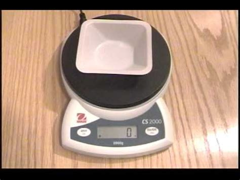 Balance Weighing Boat by Setting A Digital Scale To Zero