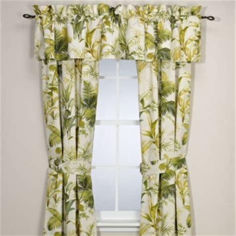 Tropical Window Curtains by Bahama Home Island Botanical 84 Inch Window Curtain