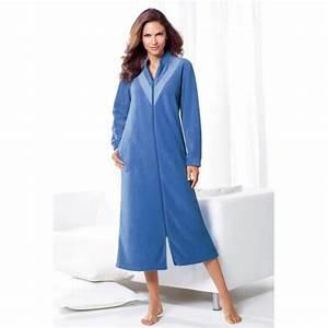 Robe de chambre lepeignoirfr for Robe de chambre polaire femme avec fermeture eclair