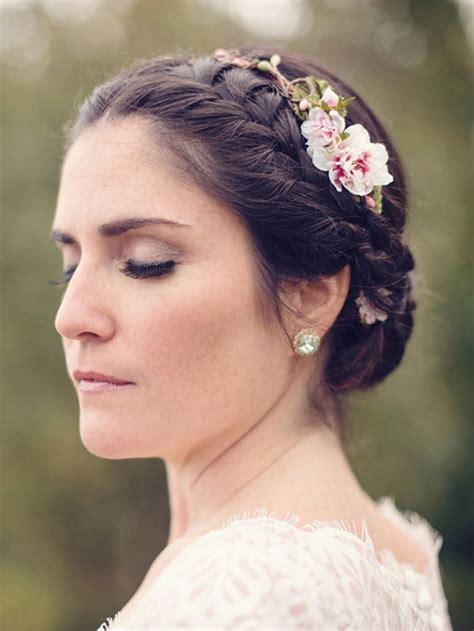 13 Bridal Braided Updo Ideas With Flowers Bridal braids