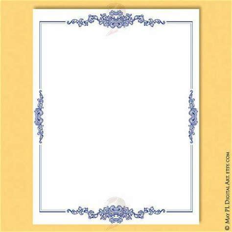 navy blue borders frames retro vintage  document
