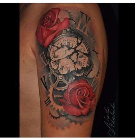 ideas  clock tattoos  pinterest