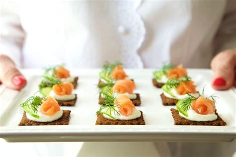 salmon canapes goat cheese mousse and smoked salmon canapés the