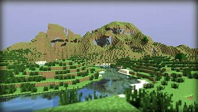 Minecraft 4d Water Mountains Wallpapers Wallpaperup Background