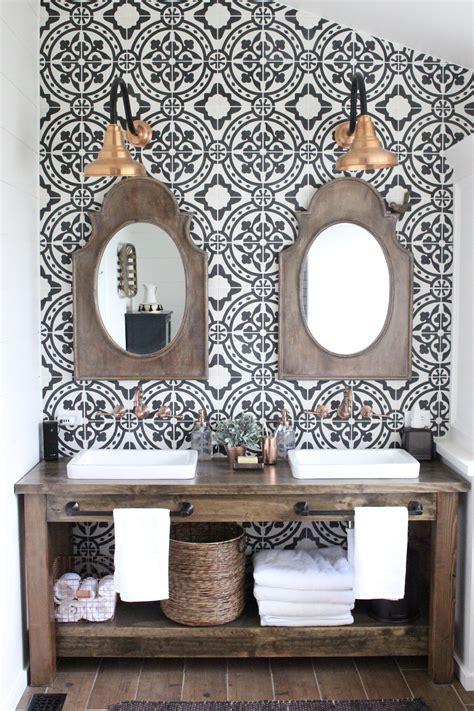modern farmhouse bathroom remodel reveal white cottage