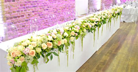 Head Table Floral Runner Cherie Kelly Wedding Flowers