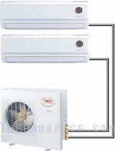 30000 Btu Dual Zone Ductless Mini Split Air Conditioner