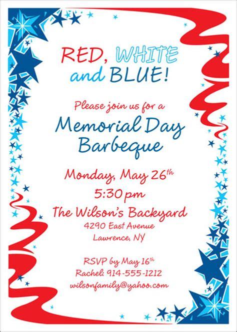 patriotic party invitation