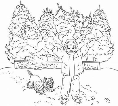 Coloring Winter Pages Scene Adults Adult Printable