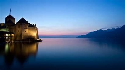 Castle France Lake Desktop Wallpapers Backgrounds