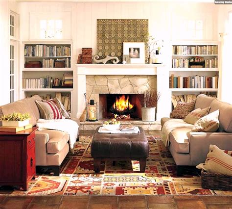 einrichten wohnzimmer gemütliches wohnzimmer einrichten kamin dekostoffe textilien beige braun