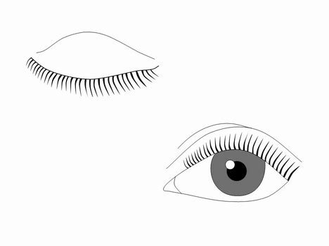 eye template eye outlines template