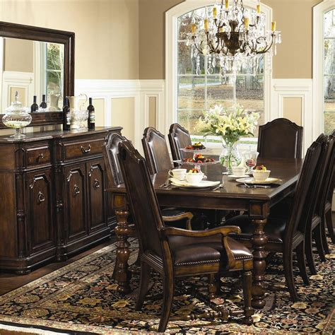 bernhardt normandie manor pc rectangular dining room set