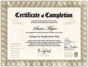 Counseling Completion Certificate