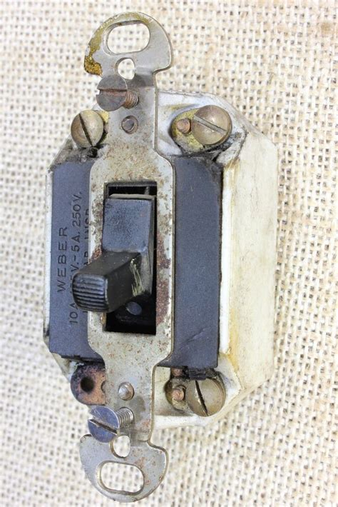 Porcelain Light Switch Tested Old Antique Vintage Wire