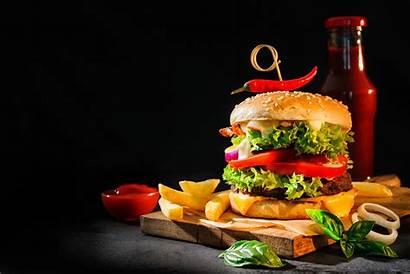 Burger Fries Hamburger French Background Wallpapers Delicious