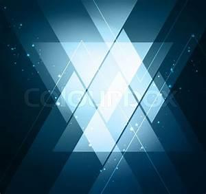 Elegant Geometric Blue Background - Vector Illustration