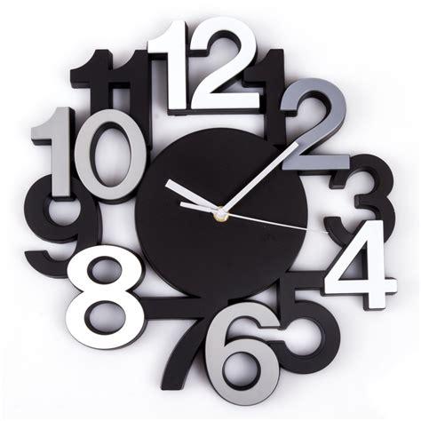 pendule de bureau horloge murale silencieuse chiffres 3d noir maison futée