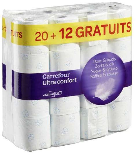 carrefour 32 rouleaux de papier toilette ultra confort 224 6 10