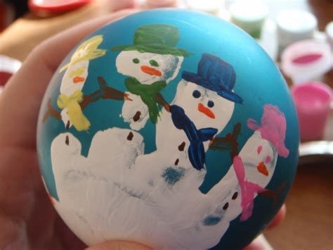 Handprint Snowman Ball Ornament Christmas Crafts For Toddlers And Preschoolers With Milk Jugs Pinterest Kids Of Free Craft Ideas Paper Plates Candy Cane Wreath Supplies Uk