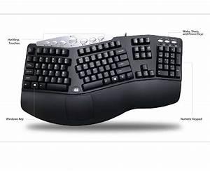Adesso Pck-208b Tru-form Media 208 Contoured Ergonomic Keyboard