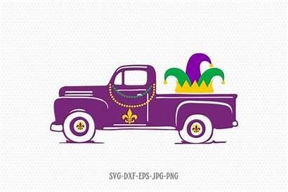 Truck Svg Gras Mardi Silhouette Happy Designbundles
