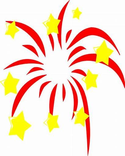Clipart Fireworks Vector Firecracker Clip Transparent Stars
