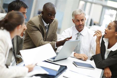pro bureau am agement steps a creative business team busy at a meeting