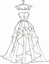Coloring Pages Dress Dresses Cute Print Wedding Drawings Draw Sketches Barbie Sketch Olds Could sketch template