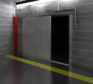 Porte Coulissante Angle Droit : porte coulissante coupe feu rail droit industrimat ~ Melissatoandfro.com Idées de Décoration