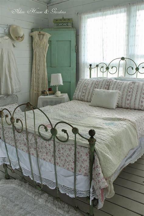 shabby chic metal bed aiken house gardens the boathouse has a vintage iron bed and an old fashioned shabby chic