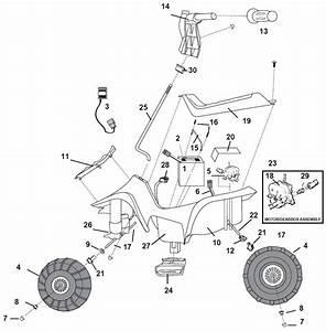 Power Wheels Lil Kawasaki 2000 Parts
