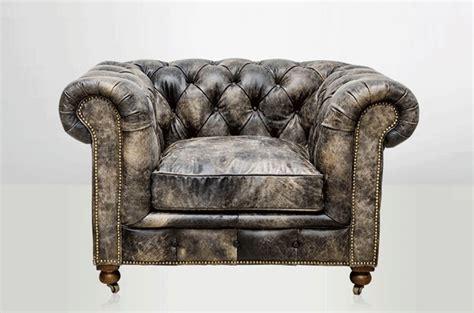 fauteuil chesterfield cuir noir vieilli arteslonga