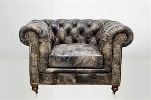 Fauteuil Cuir Noir : fauteuil chesterfield cuir noir vieilli arteslonga ~ Melissatoandfro.com Idées de Décoration