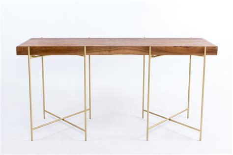 wooden rectangular cocktail table  gold black