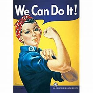 Amazon.com: Studio B We Can Do It Poster: Home & Kitchen