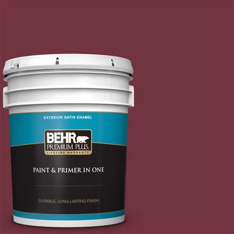 behr premium plus 5 gal mq1 rumors satin enamel exterior paint and primer in one 934005