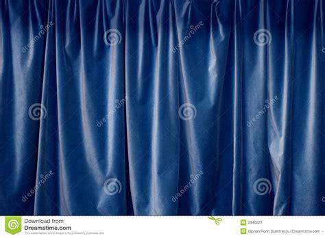 rideau bleu photographie stock libre de droits image 2940027