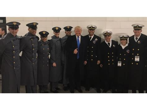 exclusive army navy game appearance  day  trumps