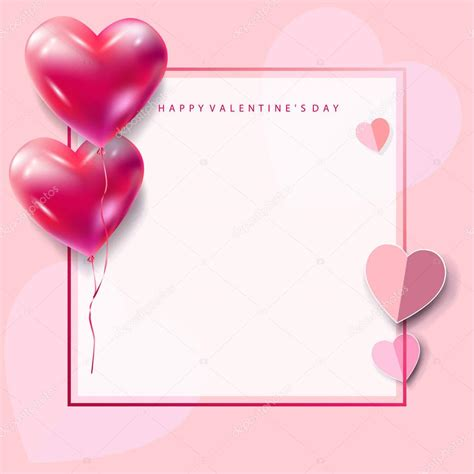 s day card template happy valentines day greeting card vector template