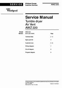 Whirlpool Awz 220 Service Manual Free Download  Schematics