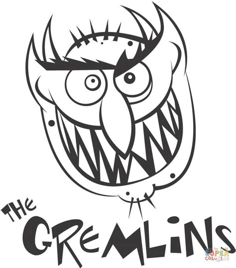 Gizmo Kleurplaat by The Gremlins Coloring Page Free Printable Coloring Pages