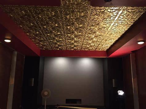 golden prague faux tin ceiling tile glue up 24 x24