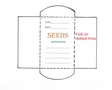 seed packet template seed template