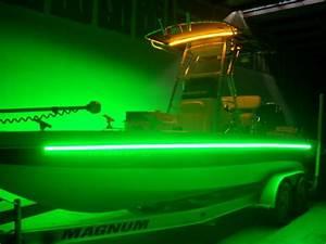 2pcs 16 U0026 39  Green Led Waterproof Ip68 Lights Marine Ski Boat