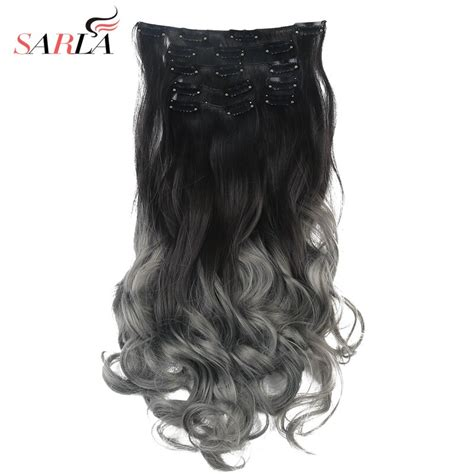 Ombre Clip In Hair Extensions Bayalage 20 7pcs Full Head
