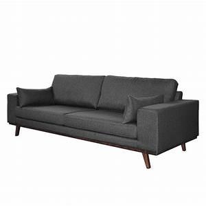 Weko Möbel Sofas : sofa billund 3 sitzer strukturstoff grau morteens ~ Michelbontemps.com Haus und Dekorationen